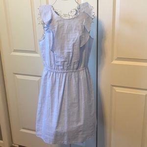 J Crew Pinstriped Dress